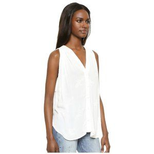 Flynn Skye White Hayden Embroidered Tank Top